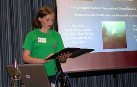 Tierney giving her presentation.  Click on this photo to see a larger version >>>