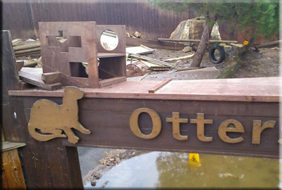 Otter enclosure