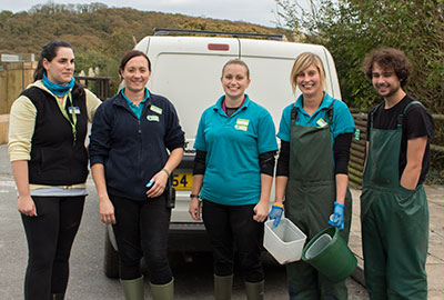 Volunteers and Members of the Animal Care Team