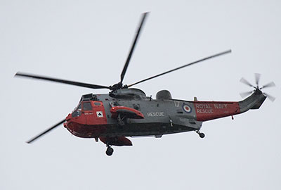 Sea King from Culdrose navy base