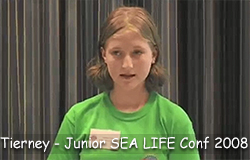 Tierney sparkles at the Junior SEA LIFE Conference 2008