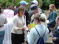 Jenny Agutter was happy to sign autographs