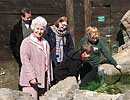 Rosie with visitors at the Cornish Coast Experience