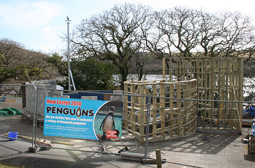 Construction of the penguin enclosure - photo taken on 27th February 2010