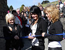 Pirate FM's girlband 'Eden' cutting the ribbon