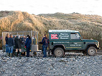 Everyone gathered around the sanctuary's land rover - Photo was taken by Simon Bone