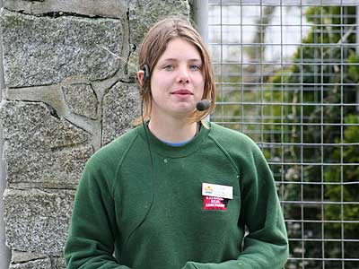 Amy, one of the Animal Care Team