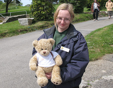 Rachael our Adoptions/Fundraising Coordinator with Travelling Ted